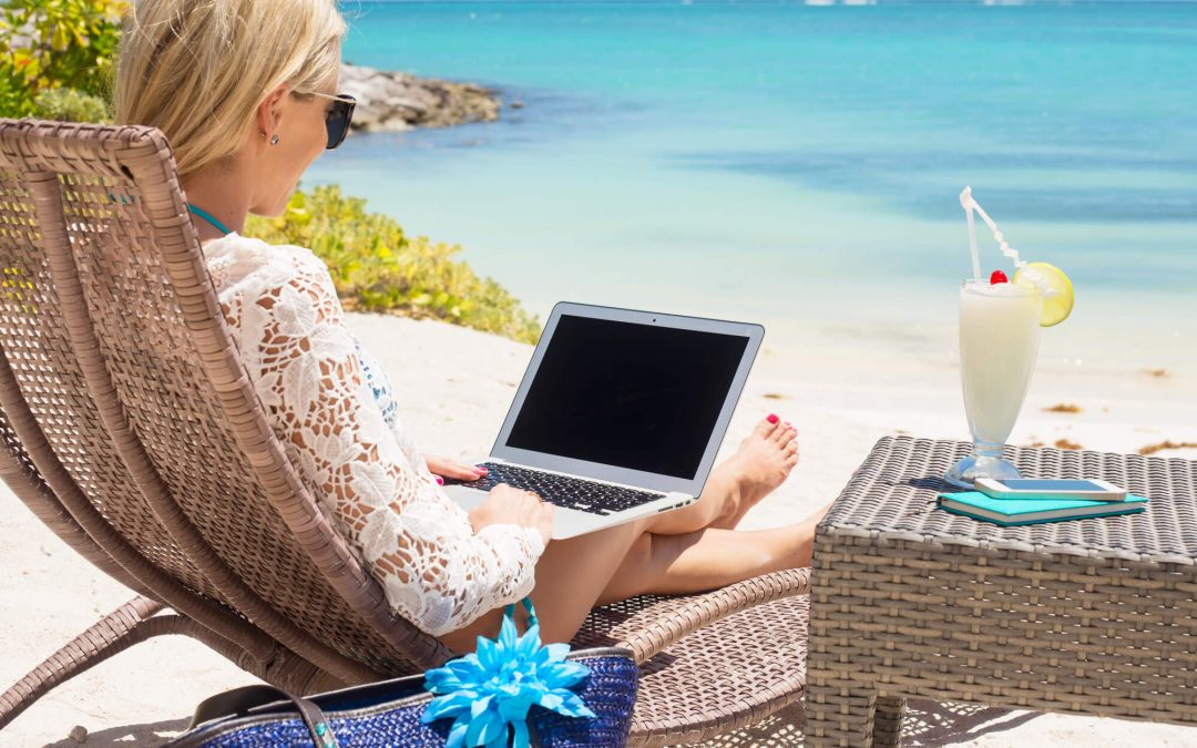 The Travelling Business Mum and Son – Beach or Pool Swim?